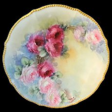 Bawo Dotter Elite Works Charger Plate Hand Painted Roses