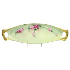 Coiffe Limoges France Antique Tray Hand Painted Roses Artist Signed