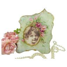 Antique Austria Picture Frame Hand Painted Tea Roses