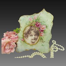 Antique Austria Picture Frame Hand Painted Tea Roses