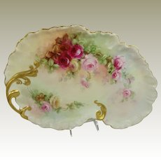 Guerin Limoges France Tray Hand Painted Roses