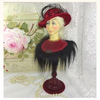 Vintage Wood Mannequin Doll Display Stand