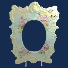 Antique French Limoges Picture Frame Hand Painted Signed Dated 1899