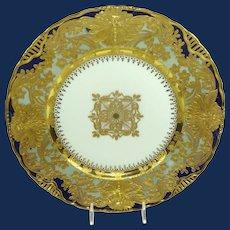 Royal Vienna Cobalt Plate with Embellished Gilded Design