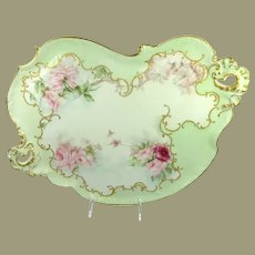 Large Antique Guerin Tray Hand Painted Roses