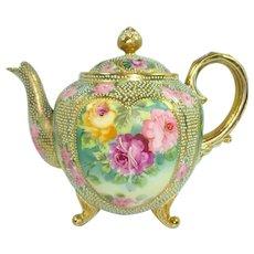 Nippon Jeweled Teapot Roses