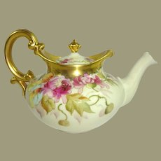 Antique Limoges Hand Painted Teapot Pickard Artist Signed