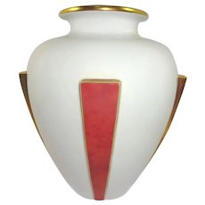 Limoges France Large Art Nouveau Vase
