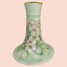 Limoges France Hatpin Holder Hand Painted Pink Roses