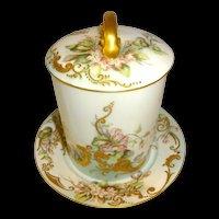 3 Piece Antique Limoges France Condensed Milk Container