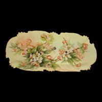 Antique Limoges Dish Hand Painted and Signed by Ester Miler