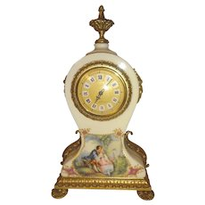 Limoges French Porcelain Mantle Clock