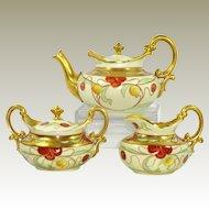 Antique Limoges Pickard Antique Porcelain Tea Set Artist Signed