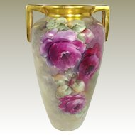 Stunning Vase Hand Painted and Signed by Jorgensen