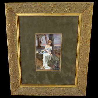 Framed Hand Painted Portrait Artist Signed Made in Germany