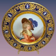 Richard Klemm Dresden Portrait of the Duchess of Devonshire Plate