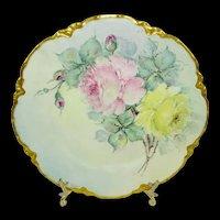Haviland Limoges France Plate Hand Painted Tea Roses