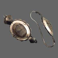 Picasso jasper cabochon vintage handmade silver earrings knight shield emblem jewelry