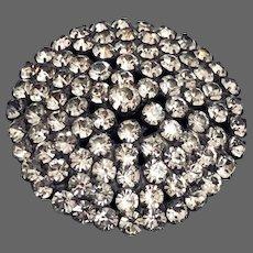 Vintage sparkling crystal brooch elegant costume décor jewelry