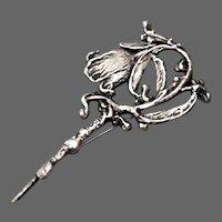 Artist Ilana Goor's sterling silver rose pin brooch upscale designer jewelry