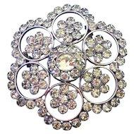 Snow flake vintage crystal brooch elegant jewelry design hexagon brooch