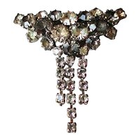 Vintage excellence emblem metallic crystal rhinestones pin brooch decoration medal jewelry
