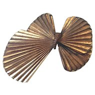 Indian summer bow-tie butterfly wings vintage metal brooch estate fashion jewelry