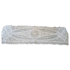 French Normandy Lace Panel Doily