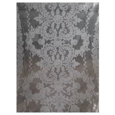 "French Alencon Lace Tablecloth 66"" x 112"""