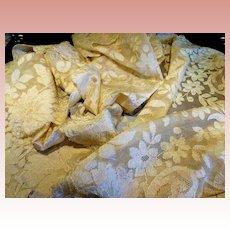 "French Alencon Lace Stole Runner Shawl Mantilla 98"" x 23"""