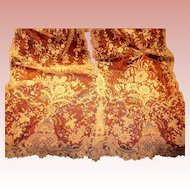 Brussels Lace Scarf, Runner, Shawl or Panel 102'' x 20''