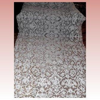 Point de Venise Figural Lace Tablecloth Panel 60 x 110