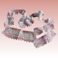 Irish Needle Lace Trim and Fragments