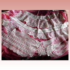 Lace Trim Collars Fragments for Projects AS IS