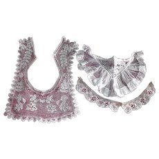 Small Net Lace Brussels Needle Lace Collars for Dolls
