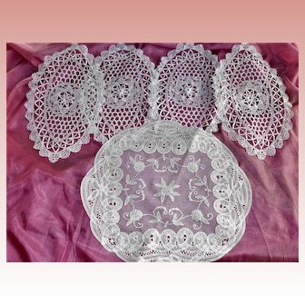 Group 5 Needle Tape Lace Doily