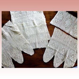 9 Machine Made Embroidered Mats Doily