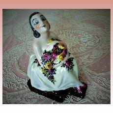 Limoges France Porcelain Figurine Perfume Lamp