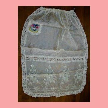 French Embroidery Tissue Silk Souvenir De France