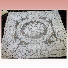 White French Tambour Net Lace Panel Tablecloth 70'' by 80''