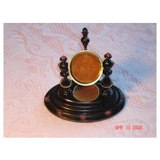 Antique Victorian Wooden Pocket Watch Holder