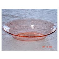 Beautiful 1930's Pink Rose of Sharon Oval Vegetable Bowl