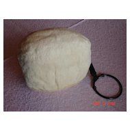 Luxurious Vintage White Rabbit Fur Muff
