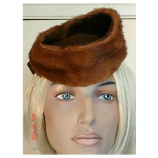 1940's Stylish Vintage Mink/Felt Hat