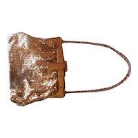 1920's Art Deco Whiting & Davis Gold Mesh Handbag