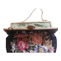 1920's Vintage Petite Point Purse