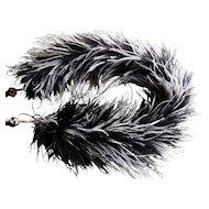 Rare Victorian Ostrich Feather Boa