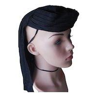 Vintage 1920's Black Silk Eqyptian Style Hat