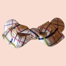 Edwardian era 1900-1910 Plaid Woman's Silk Blouse Tie