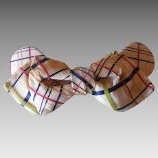 Edwardian era 1900-1910 Plaid Woman's Silk Blouse Tie
